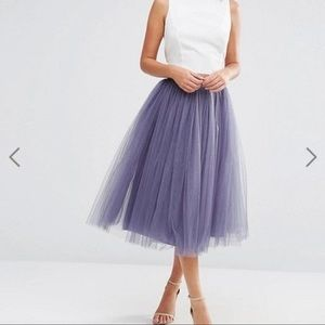 Tulle Midi Prom Skirt